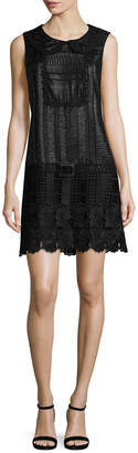 Anna Sui Embroidered Short Dress