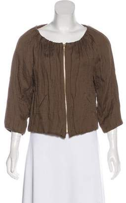 Isabel Marant Pleated Zip-Up Top