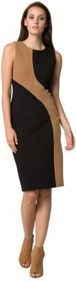 Le Château Women's Colour Block Sheath Dress,S