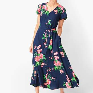Talbots Painterly Floral Fit & Flare Dress