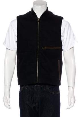 Billy Reid Leather-Trimmed Vest