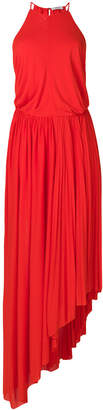 Mauro Grifoni pleated asymmetric dress