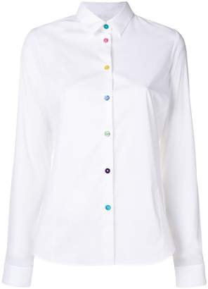 Paul Smith multi-coloured buttons shirt