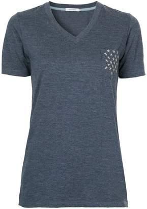 GUILD PRIME star studded pocket V-neck T-shirt