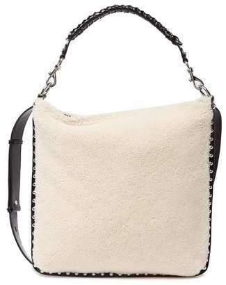 Rebecca Minkoff Alexa Leather & Genuine Sheepskin Hobo Bag