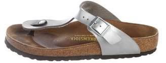 Birkenstock Metallic Leather Sandals