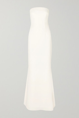 Safiyaa Strapless Crepe Gown - Ivory