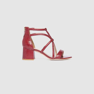 Sandro Watersnake leather sandals