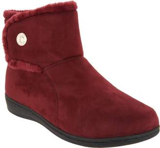 Vionic Orthotic Suede Slipper Boots - Vanah