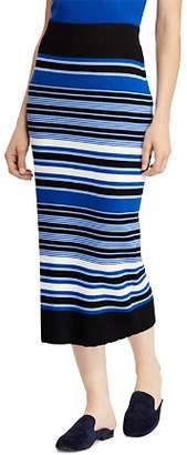 Ralph Lauren Striped Knit Midi Skirt