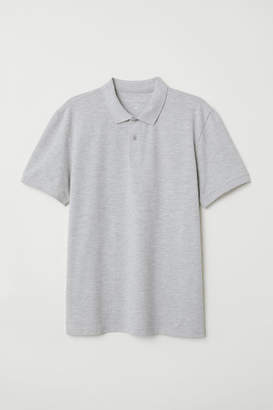 H&M Short-sleeved Polo Shirt - Gray