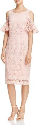 Nanette Lepore nanette Cold-Shoulder Flutter Sleeve Dress