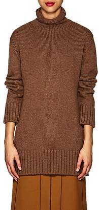 Derek Lam Women's Turtleneck Cashmere-Cotton Sweater - Brown