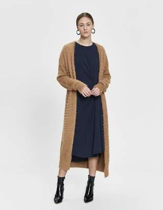Farrow Lola Long Knit Cardigan in Almond