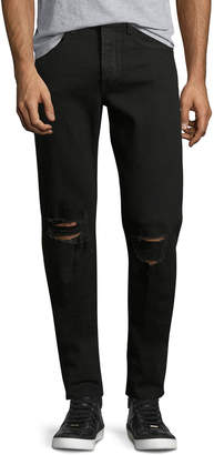 Rag & Bone Men's Standard Issue Fit 1 Slim-Skinny Jeans with Ripped Knees