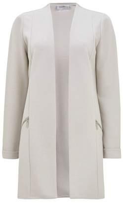Wallis Petite Silver Longline Jacket