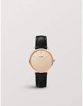 Cluse CL30051 Minuit rose gold-plated watch