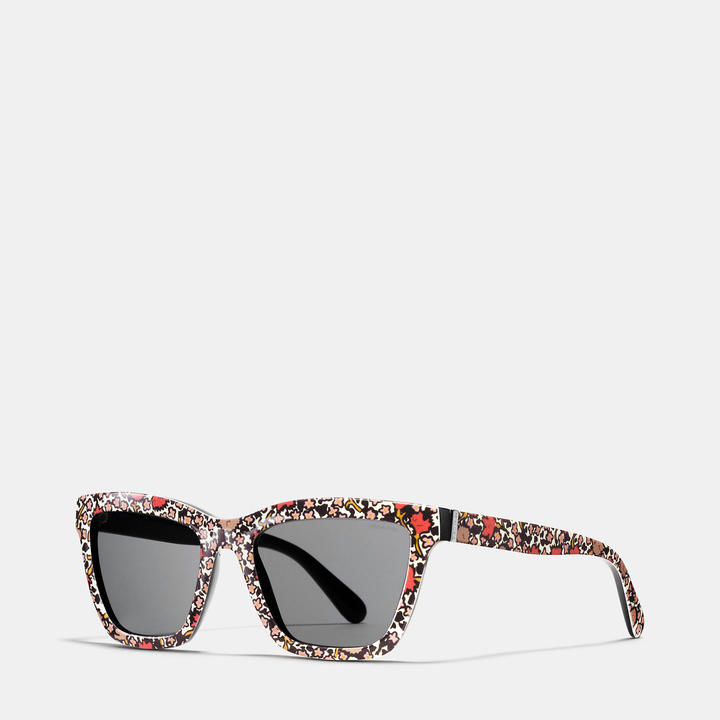 Coach   COACH Coach Yankee Floral Rectangle Sunglasses