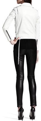 Saint Laurent Buckled Leather Moto Jacket