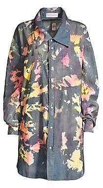 Faith Connexion Women's Splatter Denim Oversize Shirt Jacket