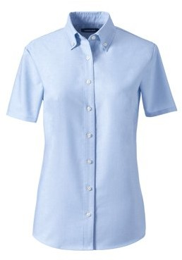 Lands' End Juniors' Short Sleeve Oxford Shirt