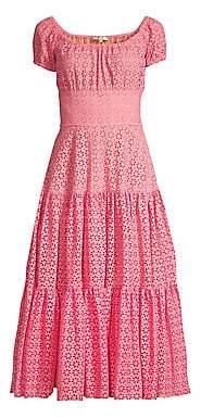 Michael Kors Women's Cap Sleeve Tiered Midi Dress - Size 0