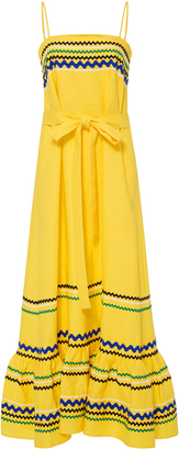 Lisa Marie Fernandez Long Tiered Spaghetti Strap Dress $995 thestylecure.com