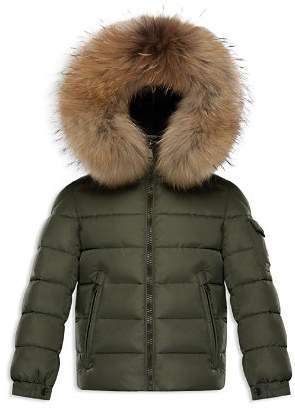 Moncler Boys' Byron Fur-Trimmed Puffer Jacket - Little Kid