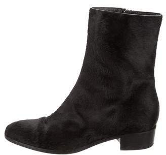 Theory Ponyhair Ankle Boots