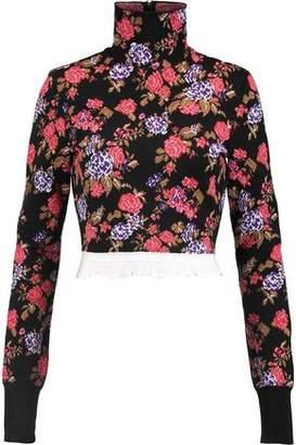 MSGM Intarsia-Knit Turtleneck Sweater