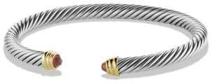 David Yurman Cable Classics® Bracelet With Amethyst And 14K Gold, 5Mm