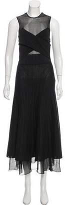 Salvatore Ferragamo Pleated Maxi Dress w/ Tags