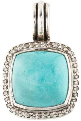David Yurman Turquoise & Diamond Albion Pendant
