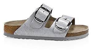 Birkenstock Women's Arizona Big Buckle Metallic Leather Sandals