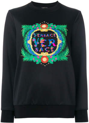 Versace embroidered logo sweatshirt