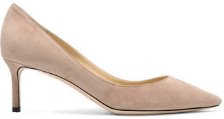 Jimmy Choo Romy 60 Suede Pumps - Beige