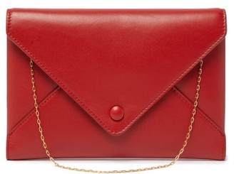 The Row Envelope Chain Handle Leather Clutch - Womens - Red