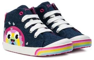 Geox printed hi-top sneakers