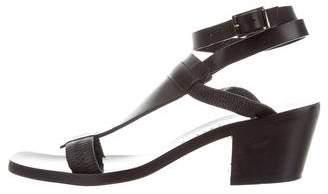 Zero Maria Cornejo Leather Ankle Strap Sandals
