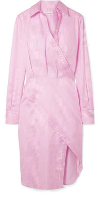 Altuzarra Monday Pinstriped Cotton-twill Shirt Dress - Pink