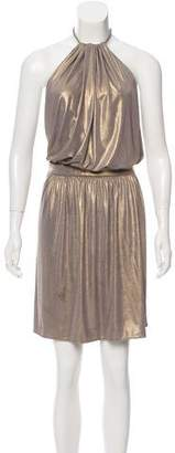 Tibi Metallic Halter Dress