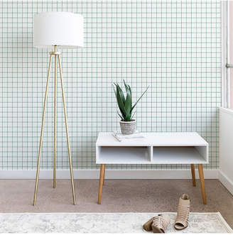 Deny Designs Holli Zollinger French Grid Emerald Wallpaper