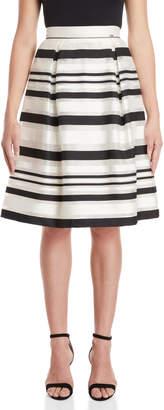 Gaudi' Gaudi Striped Pleated Skirt