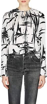Balenciaga Women's Abstract-Pattern Silk Blouse