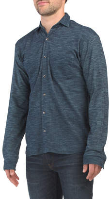 Charli Rebel James & Knit Button Front Shirt