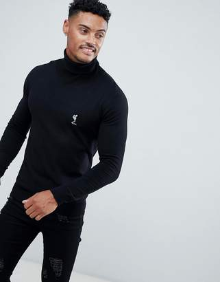 Religion Muscle Fit Knit Sweater In Black