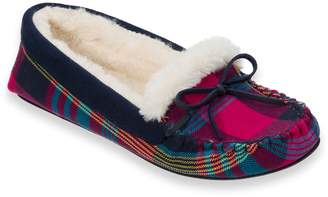 Dearfoams Women's Knit Moccasin Slippers
