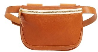 Clare V. Neptune Leather Fanny Pack - Brown $259 thestylecure.com