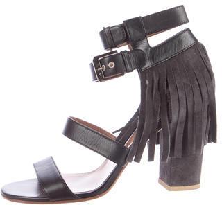 Laurence Dacade Fringe-Trimmed Leather Sandals $175 thestylecure.com