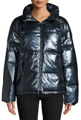 Bernardo Shimmer Wide Channel Puffer Jacket